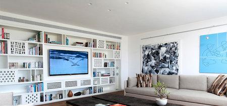 Para ideas estéticas, el blanco y la madera, protagonistas de una sensacional casa en Tel Aviv