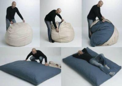 El puff-cama