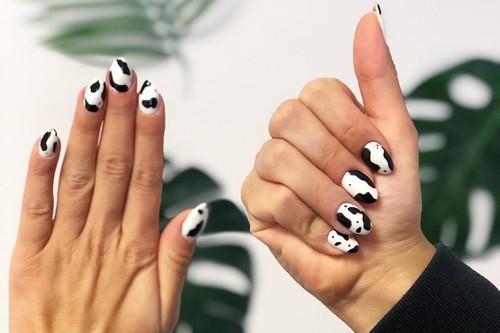 Las uñas más atrevidas de la temporada son las que ni dicen ni 'muu', ¡se lleva la manicura vaca!