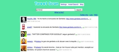Tweet Scan, buscador de mensajes y alarmas para Twitter