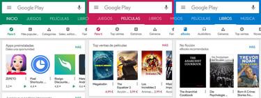 Cambios en Google Play: nuevos colores, tarjetas en reseñas, proteger actualizaciones y más