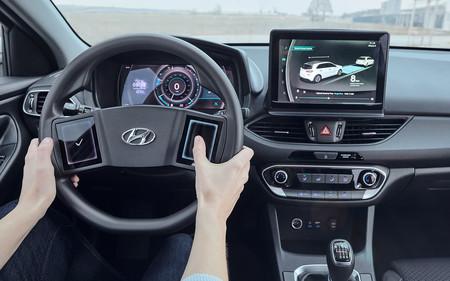 Volante Hyundai con pantallas