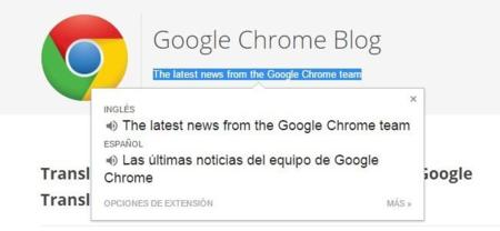 Google mejora la traducción de webs con su extensión Google Translate para Chrome
