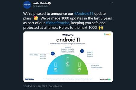 Nokia publica (y luego borra) la lista de móviles que actualizarán a Android 11 y cuándo