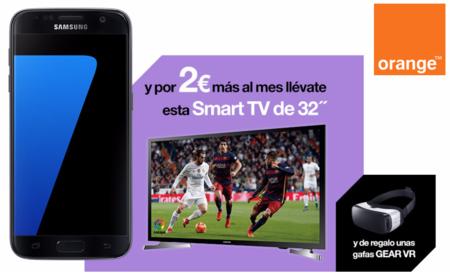 Samsung Galaxy S7 y Galaxy S7 edge con Orange: precios con descuento o Smart TV de regalo
