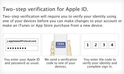 Apple estrena la verificación de dos pasos en sus cuentas de usuario