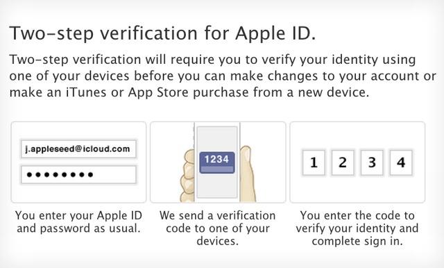 verificacion dos pasos apple cuentas de usuario