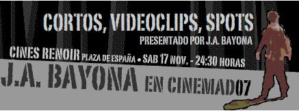 J.A. Bayona estará en el Cinemad 07