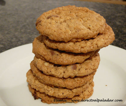 Galletas de avena con chocolate. Receta