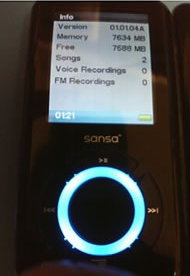 SanDisk Sansa e280, ahora con 8 GB
