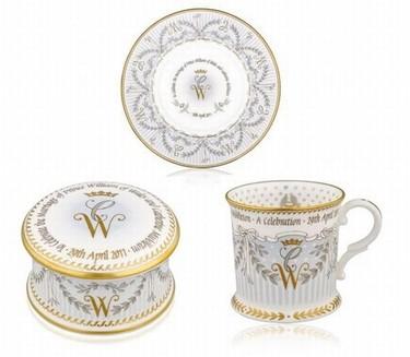 Juego de té conmemorativo de la boda del príncipe William y Kate Middelton