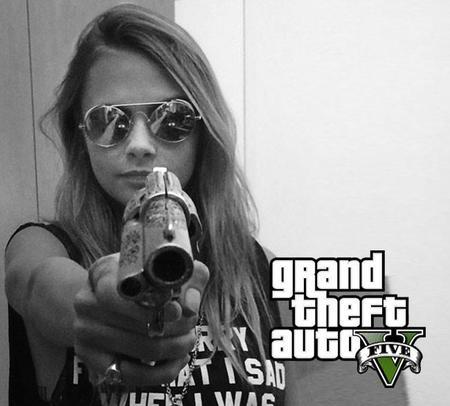 Cara Delevingne vuelve al estudio de grabación para el GTA V de Xbox One, PS4 y PC