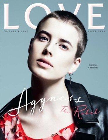 Agyness Deyn, portada revista Love