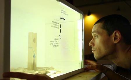 Kinect y una pantalla transparente LCD unidas para crear una ventana aumentada