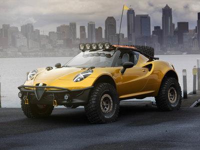 Sabemos que no pasará, pero nos encantaría ver este Alfa Romeo 4C competir en el Rally Dakar