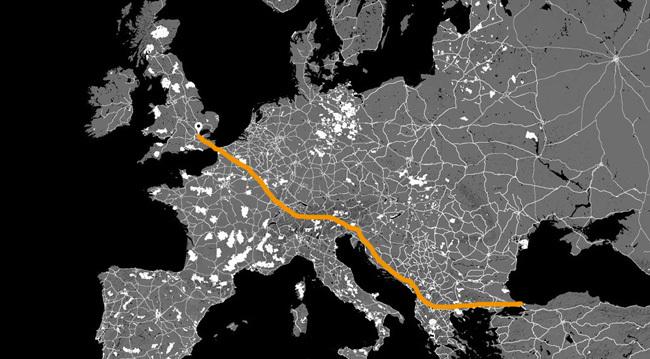 mapa race bici