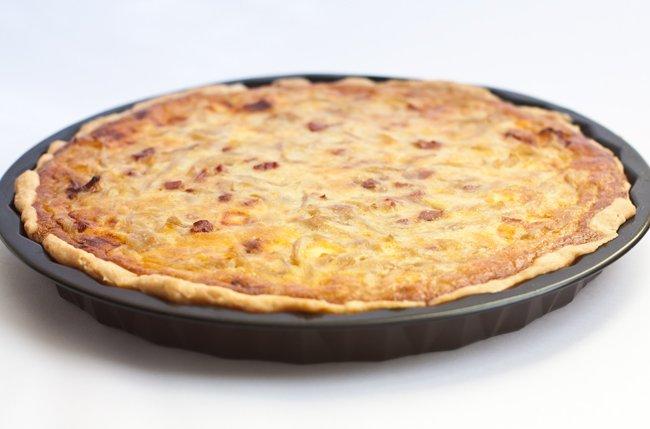 Tarta de cebolla sin lactosa
