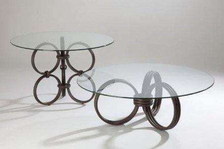 Mesa de centro con aros