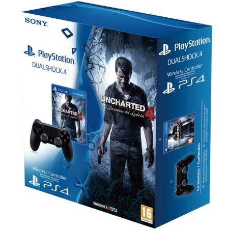 Pack Uncharted 4 + Mando DualShock PS4 por 69,95 euros y envío gratis