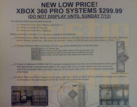 Filtrada información sobre la rebaja de precio de XBox 360