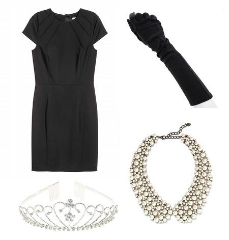 disfraz little black dress vestido negro lbd halloween facil diy