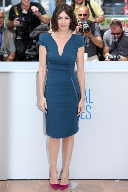 Paz Vega vestido vestido azul marino Zuhair Murad Otoño-Invierno 2014 photcall Grace of Monaco Festival de cine de Cannes 2014