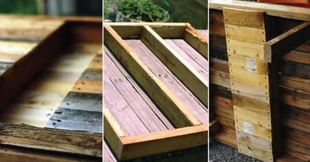 Mesa creada con palés para la terraza