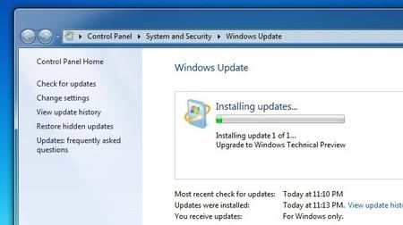 Si usas Windows 7 tienes la opción de actualizar a Windows 10 Tech Preview mediante Windows Update