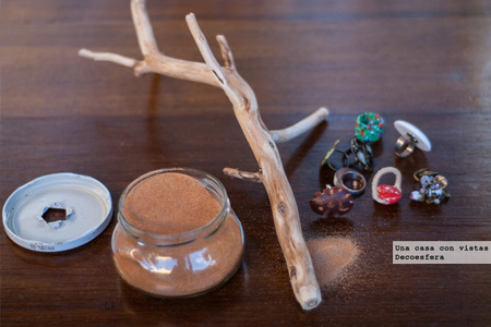 Materiales rama para colgar anillos