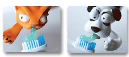 Divertidas tapas para el tubo de pasta dentífrica