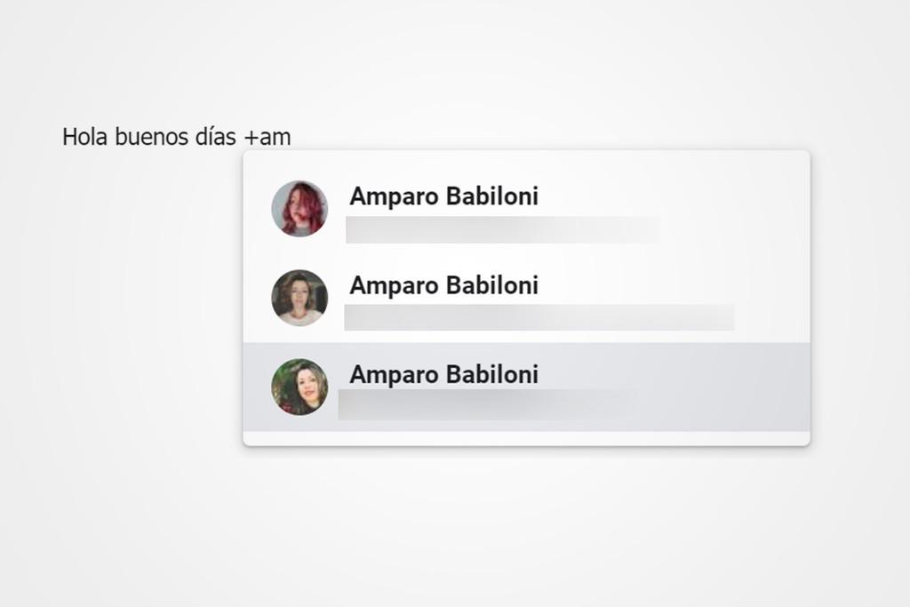 Gmail para Android™ concede agregar remitentes a un correo con menciones en el texto