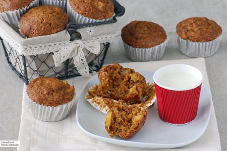 Muffins de zanahoria y piña: receta con toque tropical