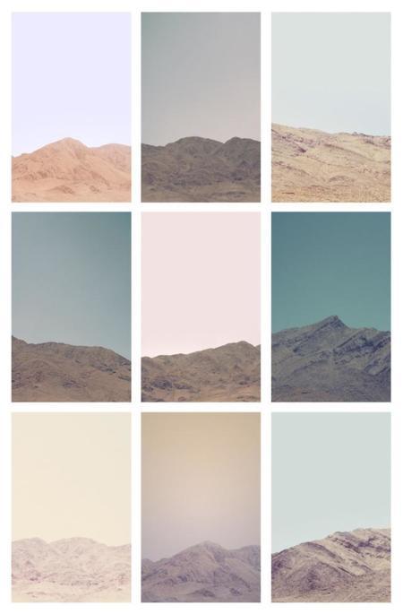 El desierto tiene un color muy especial