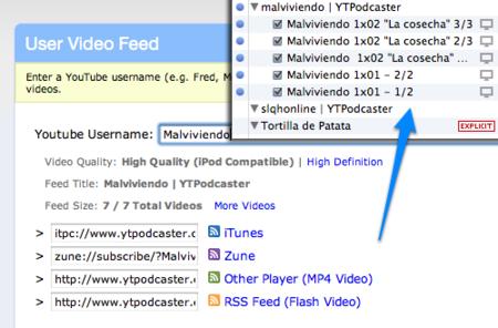 Llena tu iPod de vídeos de YouTube con YTPodcaster