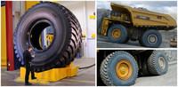Este neumático Goodyear... ¡pesa como un elefante!