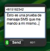 sendSMS: Envía mensajes de texto SMS desde Dashboard utilizando tu móvil Bluetooth