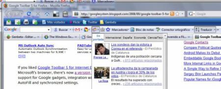 Barra de Herramientas de Google para Firefox