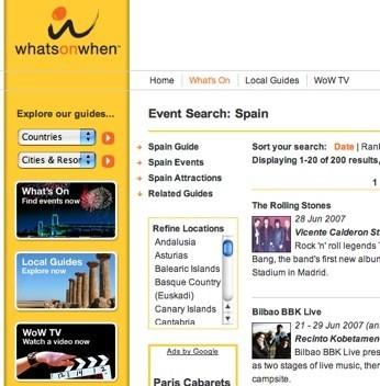 Whats On When, guía de acontecimientos mundiales