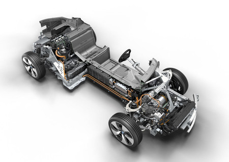 BMW i8 imagen técnica bastidor