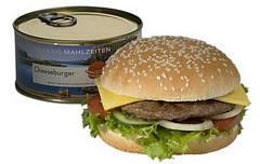 Hamburguesa con queso enlatada