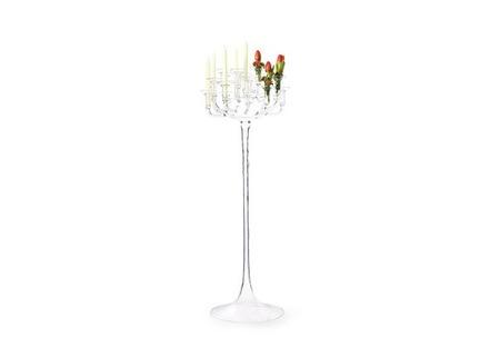 candelero velas flores