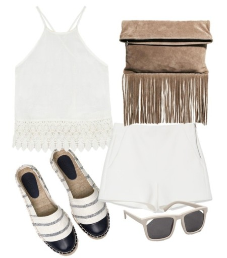 look blanco y beige