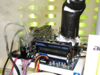 AMD Phenom II 955 overclockeado hasta los 7 GHz.