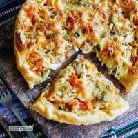 Tarta de pollo a la mexicana: receta fácil