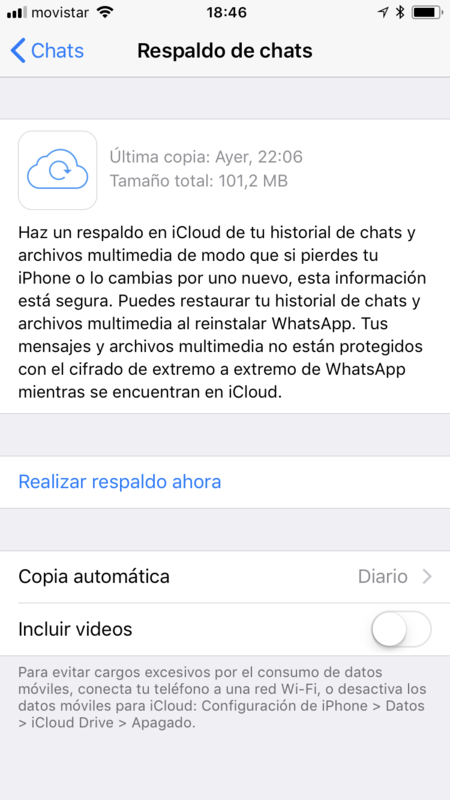 Whatsapp Copia De Seguridad Iphone