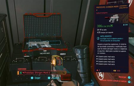 Las mejores armas gratis de Cyberpunk 2077: Prototipo Shingen Mark V