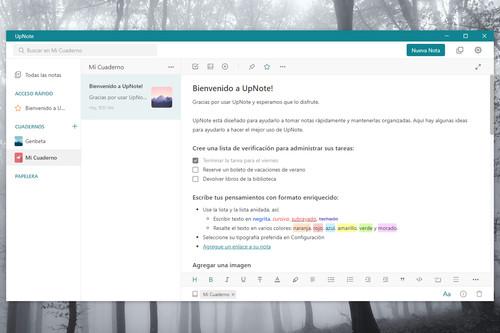 UpNote: una completa y limpia aplicación para escribir y organizar tus notas en Windows y macOS