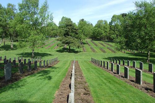 Aquí están enterrados austriacos y alemanes que murieron en suelo británico durante la Primera y Segunda Guerra Mundial