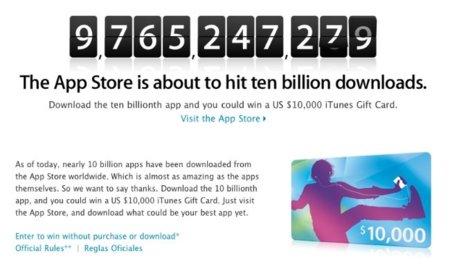 La App Store alcanzará las diez mil millones de descargas en los próximos días