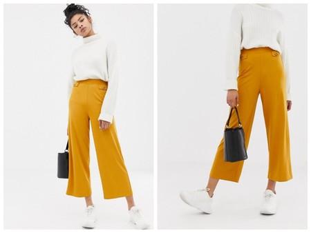 Pantalones Mostaza Culotte